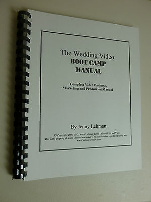 Wedding Video Business Marketing Production Manual Book Training Instruction