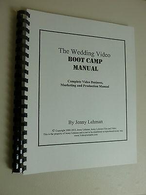 Wedding Video Business Marketing Production Manual Book Training Instruction