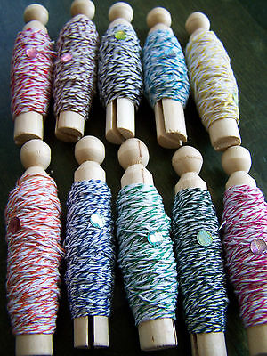Bakers Twine SAMPLER PACK - 10 colours, 15 yds ea. - Great for Crafts!