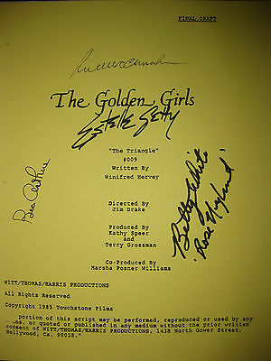 The Golden Girls Signed TV Script Betty White Bea Arthur Rue McClanahan reprint
