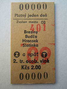 Edmondson Train Ticket Roundtrip ČSD Czechoslovak Railways Zvolen Fahrkarte