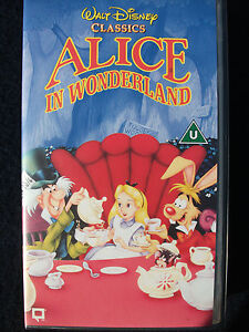 WALT DISNEY – ALICE IN WONDERLAND - VHS - NEW (3 VIDEOS FOR 1 p&p)