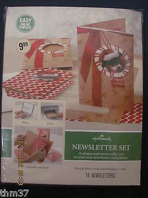 Hallmark Newsletter Set Laser Print Your Own Newsletter Makes 18 Letters Pgx4496