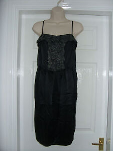 Black-Tulip-Dress-with-Lace-Trim-by-PIED-A-TERRE-RRP-160