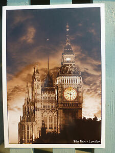 London UK England Souvenir Postcards Iconic Landmark Buildings British Heritage