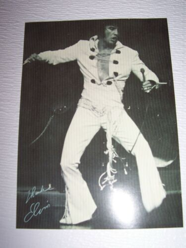 ELVIS PRESLEY 5X7 PHOTO POSTCARD INTERNATIONAL HOTEL LAS VEGAS MINT