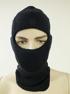 NEW IN BAG BALACLAVA HOOD FACE SKI MASK Black 85% WOOL GENUINE US Military NIB