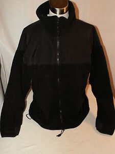 Polartec-300-Fleece-Jacket-Coat-Black-LARGE-GENUINE-US-Military-Issue-EXC