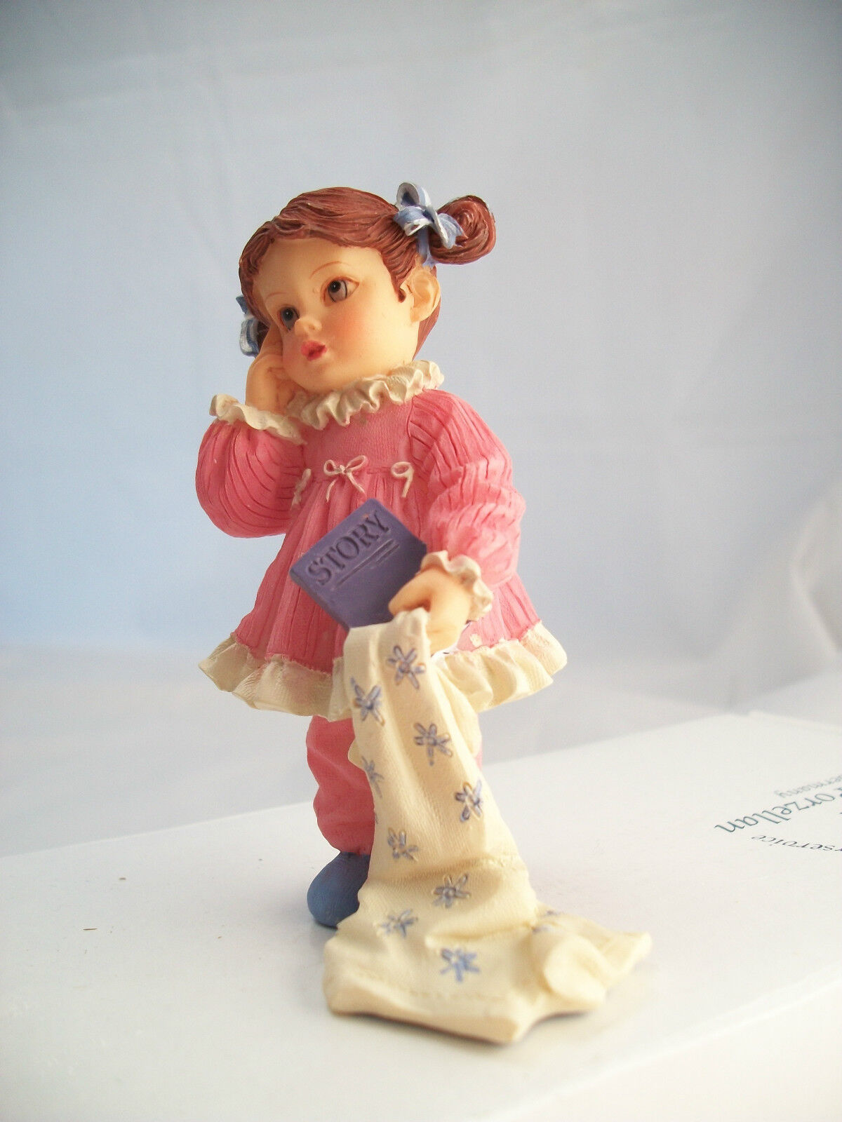 Resin Doll - Peggy (girl In Pajamas) 3098 1/12 Scale Houseworks Figurine