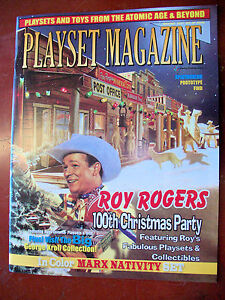 Playset Magazine #60, Roy Rogers playsets+Marx Nativity+ apostles sets+prototype