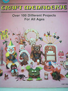Craft-Menagerie-Pattern-Book-100-Projects-All-Ages-Frog-Clown-Bear-Butterfly-Cat