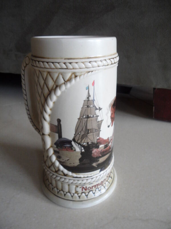 "Collectors's Stein from The Norman Rockwell ""The Captain and First Mate"""