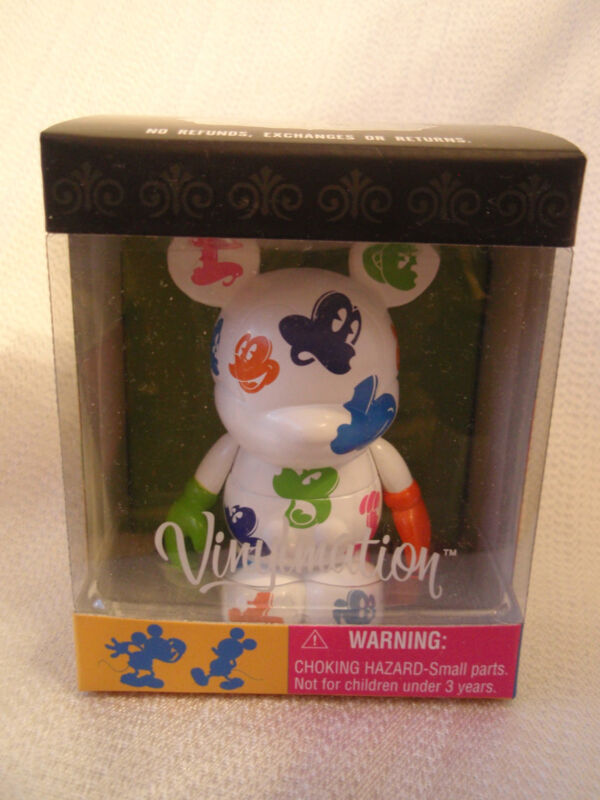 "Disney Vinylmation Oh Mickey Mouse Series WHITE & COLOR FACES 3"" + 1.5"" Figures"