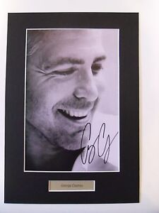 George Clooney signed autograph mounted photo
