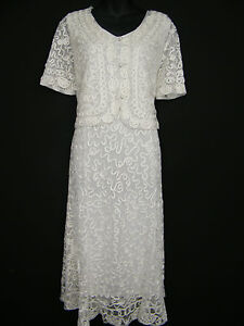FAB-CREAM-LACE-LACY-DRESS-AND-JACKET-SUIT-BRAND-NEW-SIZE-12-14-16-18-20-22
