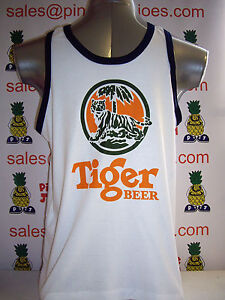 Tiger-Beer-Singlet-Vest-Top-White-size-XL-UK-STOCK-New