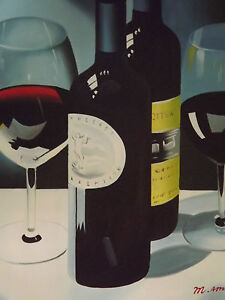 still-life-red-wine-bottle-large-oil-painting-canvas-contemporary-art-modern