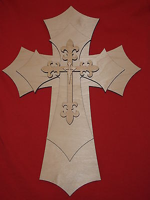 Unfinished Layered Wood Crosses Wooden Stacked Craft Cross Part# 151