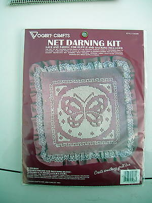 Net Darning Pillow Kit Butterfly Pink Sealed