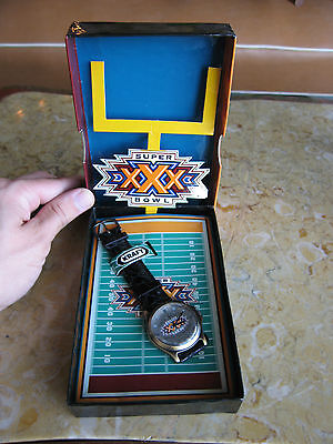 Kraft Super Bowl Xxx Limited Edition Watch W  Original Box   Coa