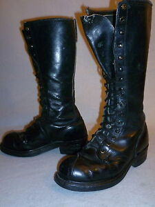 Vintage-Linesman-Logger-Biker-Steel-Toe-Work-Knee-High-Tall-Boots-Mens-Size-6