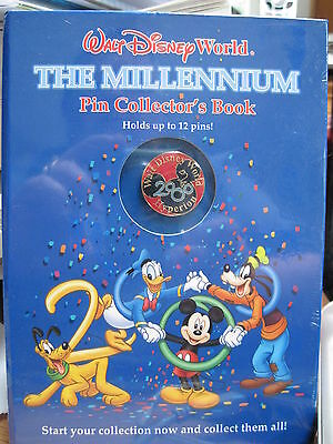 Millenium Pin Book (1999, Hardcover, Reinforced) Disney World Pin Collector