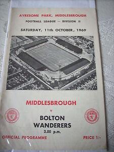 Middlesbrough-v-Bolton-Wanderers-11-10-69-programme-2nd-Division