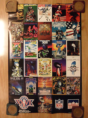 NFL Football Super Bowl XXVI Collage 2001 Poster