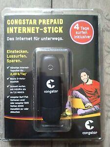 Webstick Internetstick Congstar  Prepaid 10 € Guth. mit jeder Karte zu betreiben
