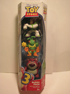 Toy Story Buddy Pack Laser Buzz Lightyear, Twitch, & Lotso In Pack