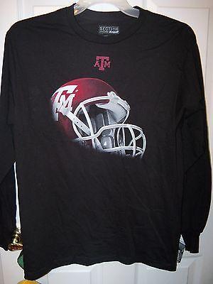 Texas A & M A&m Aggies Football Black Long Sleeve Shirt Mens Size Large