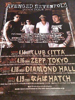 AVENGED SEVENFOLD / 2012 TOUR flyer / JAPAN