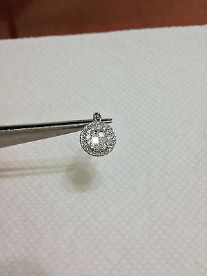 1.01Ct PRINCESS/ROUND DIAMOND 18K W GOLD PENDANT -VS1 E NO RESERVE