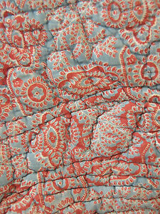 Antique-French-Pique-Provencal-quilt-c1810-Indigo-resist-paisley-madder-block