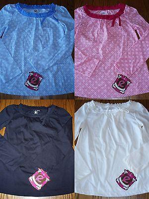 Ellemenno Girls Size S M Or L Blue Pink Black Choice Long Sleeve Dot Shirt