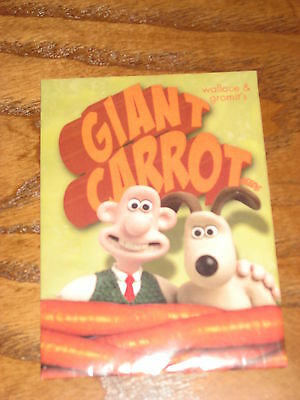Wallace & Gromit's GIANT CARROT SEEDS - Collectible - Packed in 2005