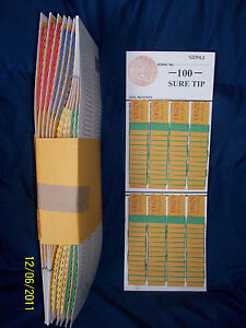 1 doz.100# Sure Tip Board Football 00-99 Fund Raising / Raffle / Bingo