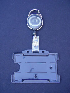 Black-Retractable-Belt-Clip-Reel-Police-SO19-Warrant-ID-Pass-Card-Badge-Holder