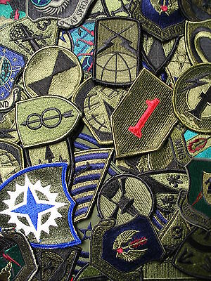 Lot of 50 Assorted U.S. Military Army & Air Force Subdued Unit Insignia Patches