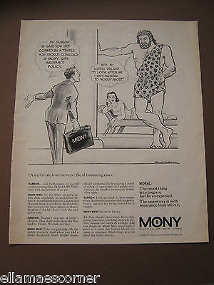 Vintage 1969 Mony Mutual Of New York Life Insurance Magazine Print Ad