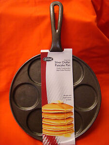 CAST IRON FLAT PANCAKE FRYING PAN SKILLET 23cm DIAMETER BRAND-NEW 7 HOLES 6.5cm