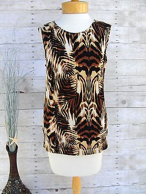 Ladies Animal Print Top By Knit Chic Size Small Msrp $42.00