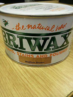 Briwax Original Wax Furniture polish ( MEDIUM BROWN ) 400g All Colours available