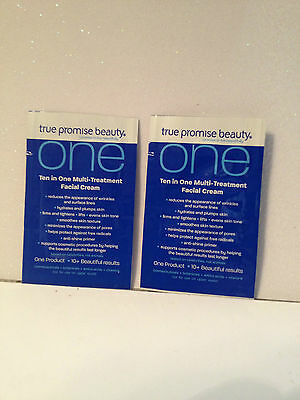 True Promise Beauty One Ten In One Multi Treatment Facial Cream-sample Packs X2