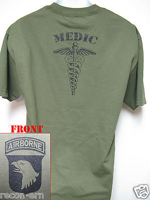 101st Airborne T-shirt/ Medic/ Military/ Army/
