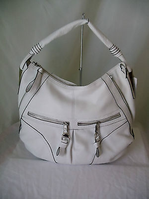 B Makowsky Hailey Hobo White 100% Authentic With Tags