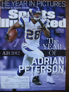 Sports Illustrated Adrian Peterson Minnesota Vikings 2012 Year In Pictures