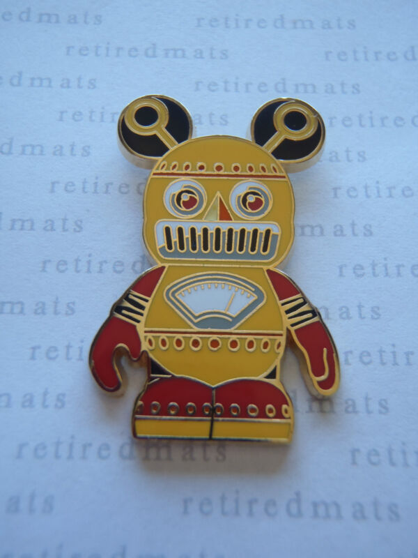 AUTHENTIC Disney Vinylmation Pin Urban #8 YELLOW & RED ROBOT Mickey REAL