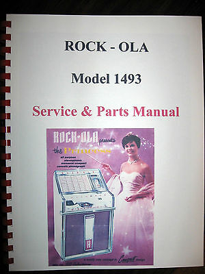 Rock-ola 1493 Princess Jukebox Service & Parts Manual