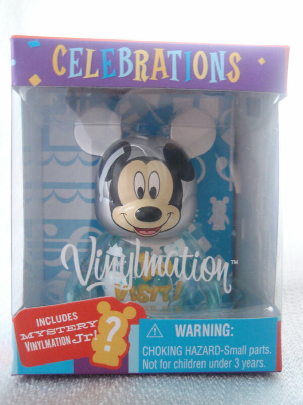 "Vinylmation Celebrations MY 1st VISIT TO DISNEY WORLD Balloon 3"" Mickey + 1.5 Jr"